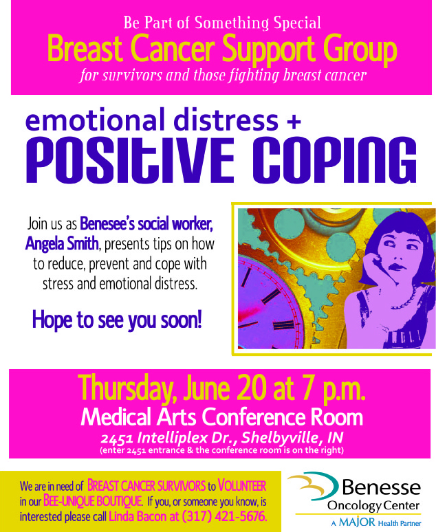 June Breast Cancer Support Group Flier